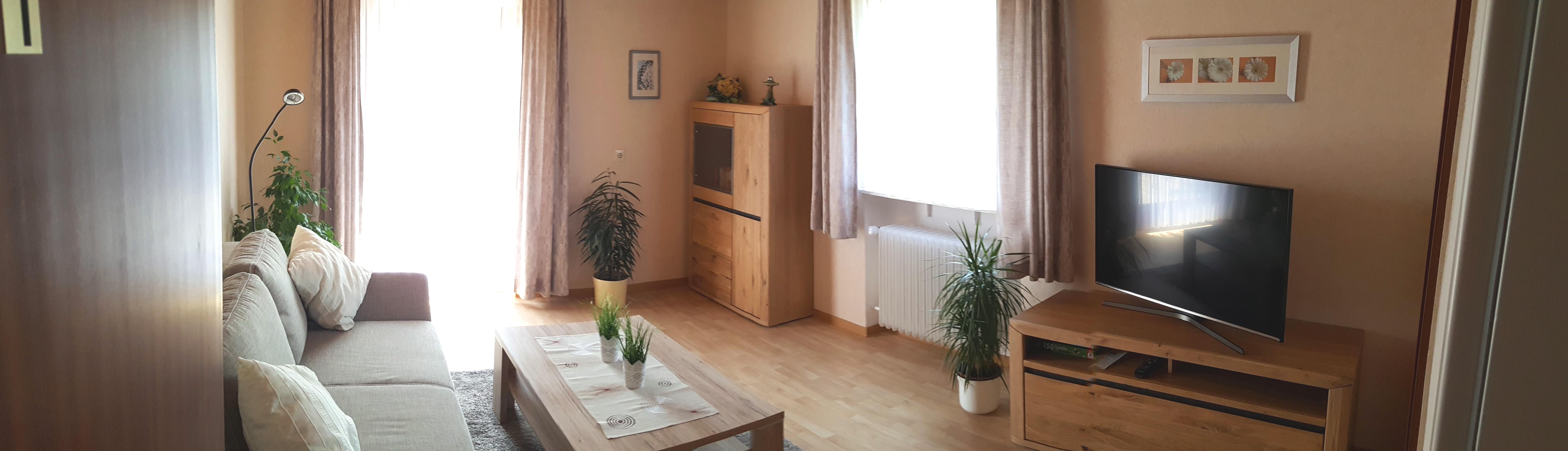 Panoramablick ins Wohnzimmer